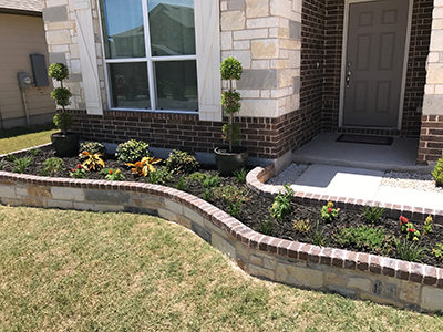 stone flower bed